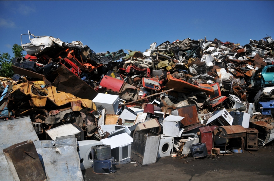 Metal scrap recycling in Britain